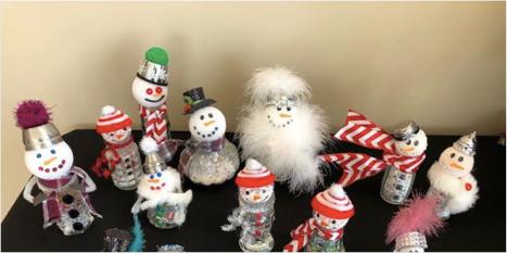 Saltshaker Snowmen